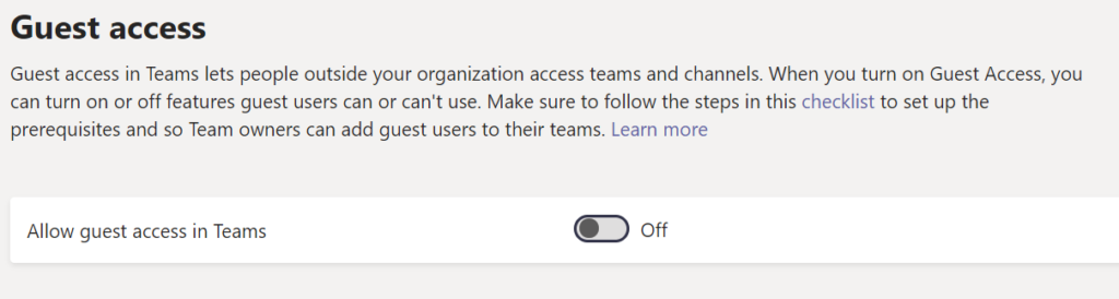 Guest Access in Microsoft Teams is Binary